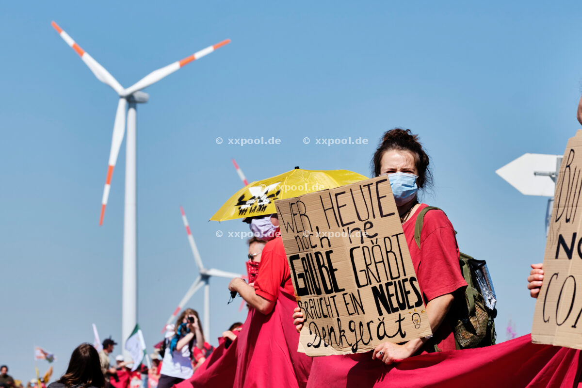 Protests against brown coal - occupation in Garzweiler