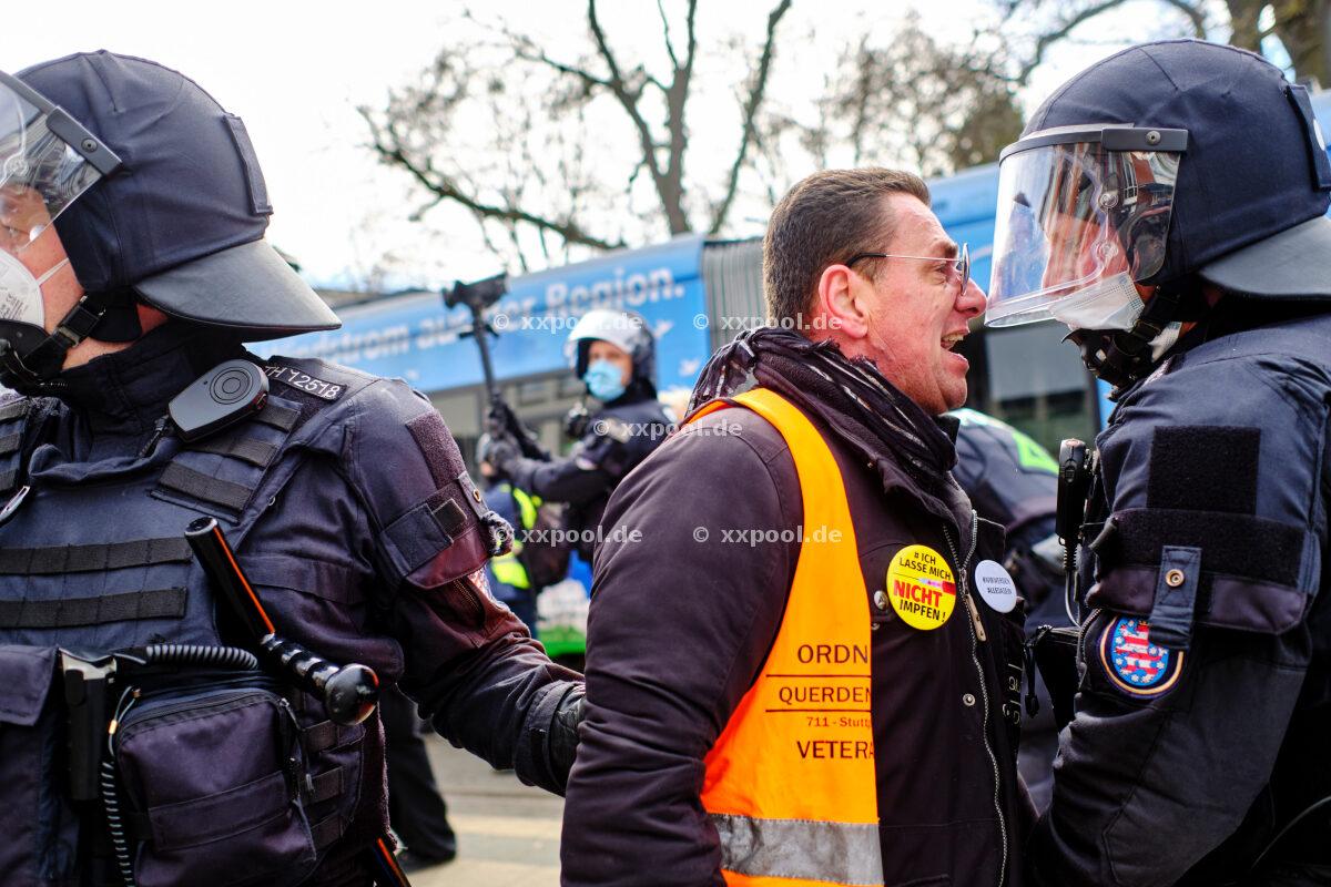 Corona protests Kassel
