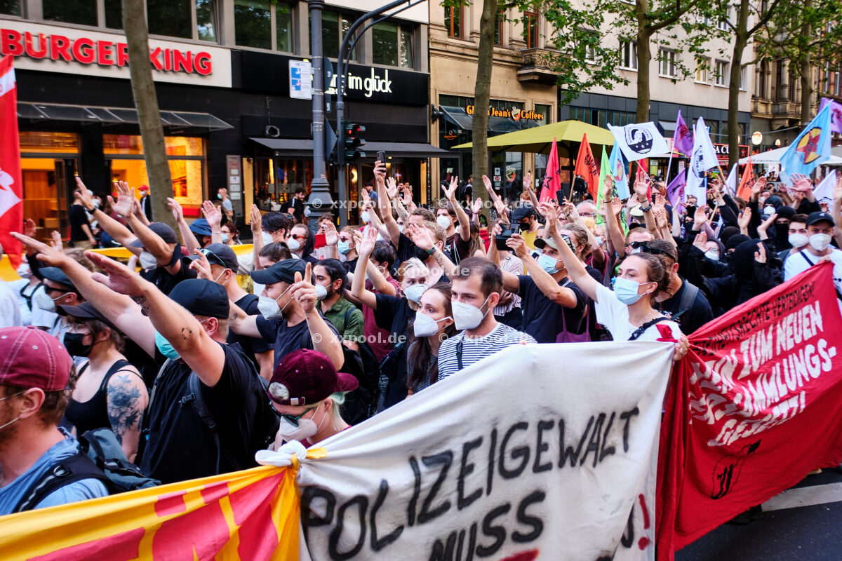 Protests against police violence and the new assembly law