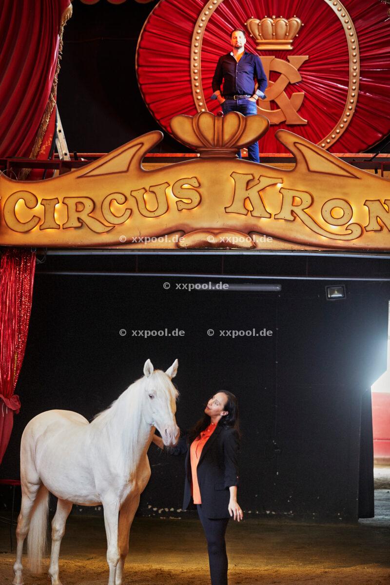 Jana Mandana Lacey-Krone and Martin Lacey jr., Circus Krone Munich